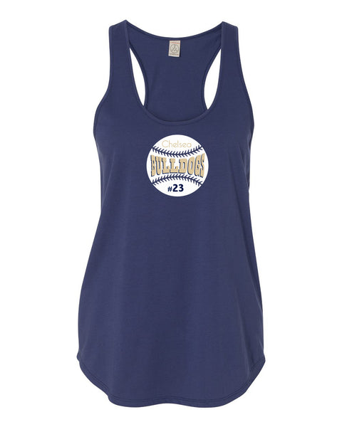 Ladies Satin Jersey Shirttail Tank