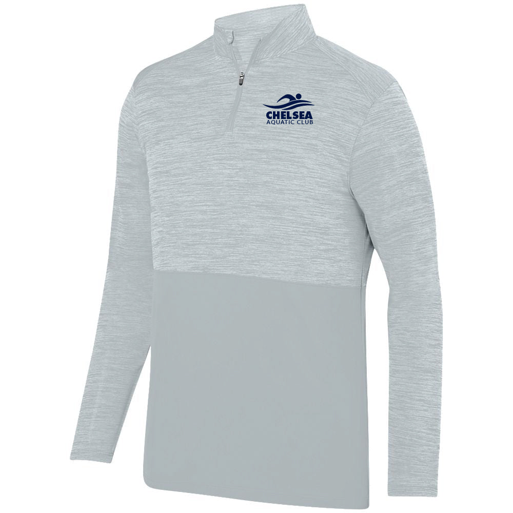 Adult CAC Shadow Tonal Heather Silver 1/4 Zip - Logo1