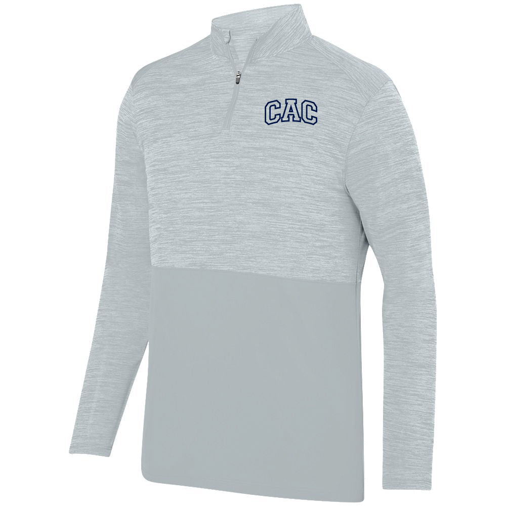 Adult CAC Shadow Tonal Heather Silver 1/4 Zip - Logo2
