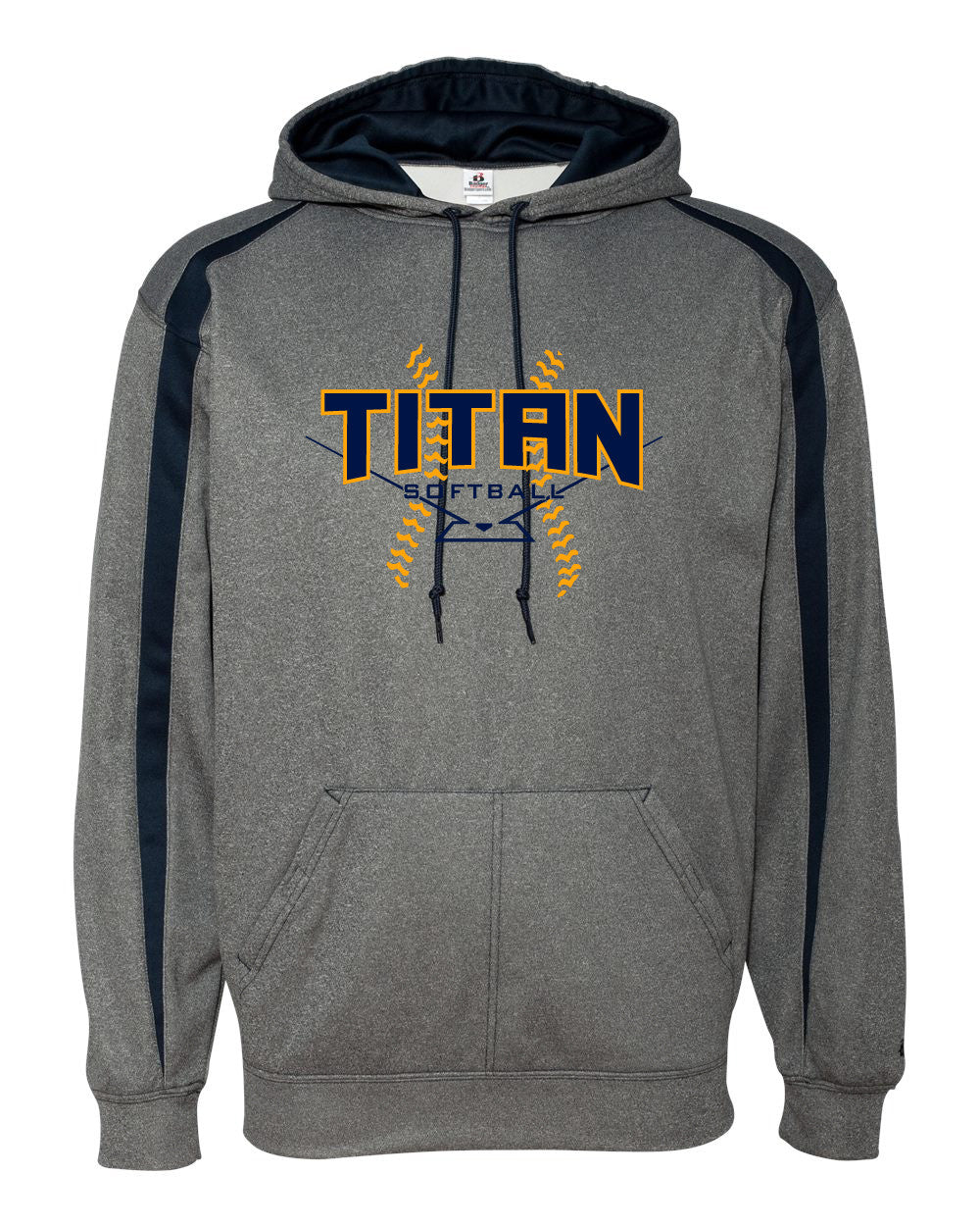 Adult Titan Softball Heather Fusion Pullover