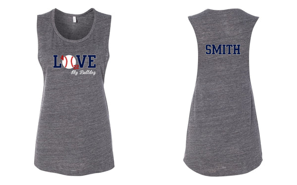 Ladies Flowy Tank - Love Baseball