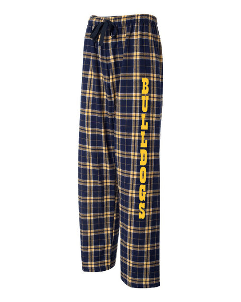 Bulldog Flannel Pants - D001