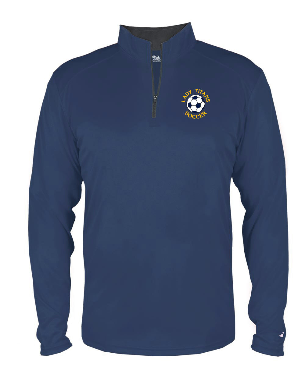 Youth Lady Titans Soccer B-Core 1/4 Zip - Navy