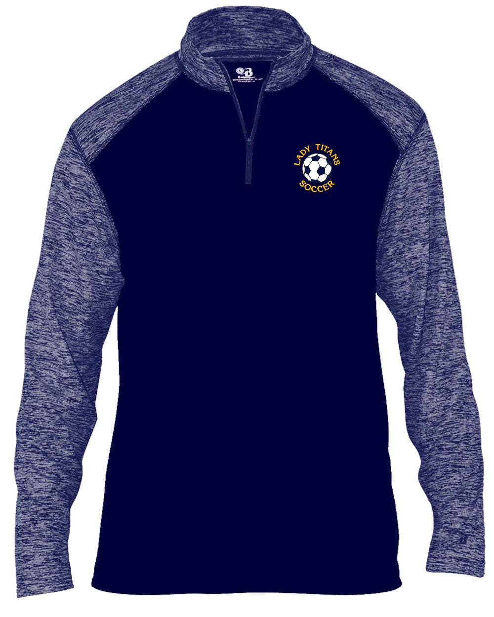 Adult Lady Titans Soccer Sport Blend 1/4 Zip - Navy