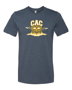 Adult CAC Super Soft Heathered Navy Tshirt