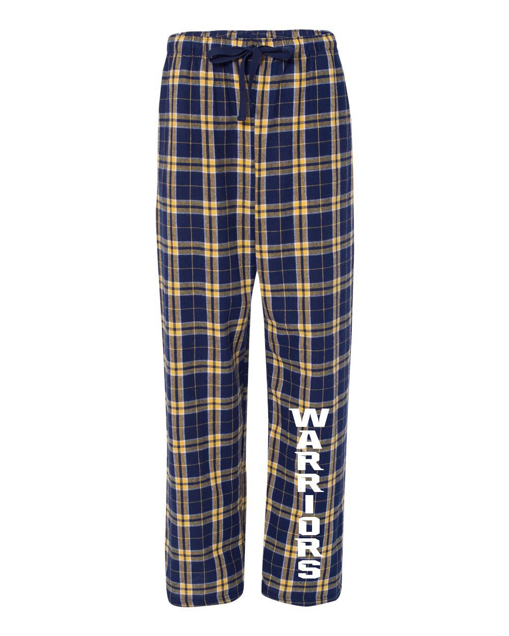 Youth Warriors Flannel Pants - Navy/Gold