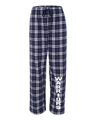 Adult Warriors Flannel Pants - Navy/Silver