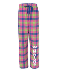Adult Warriors Flannel Pants - Popsicle