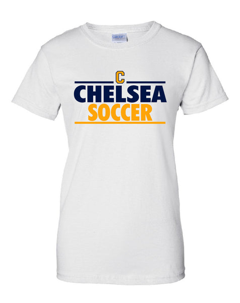 Ladies Chelsea Soccer Cotton T-Shirt - D001