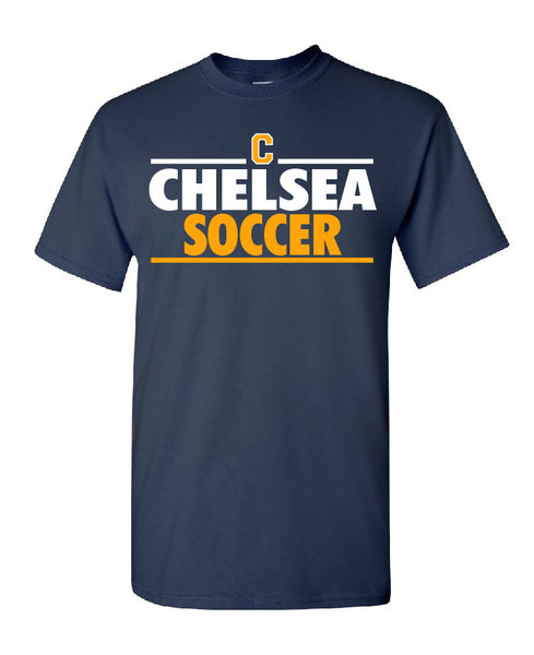 Adult Chelsea Soccer Cotton T-Shirt - D001