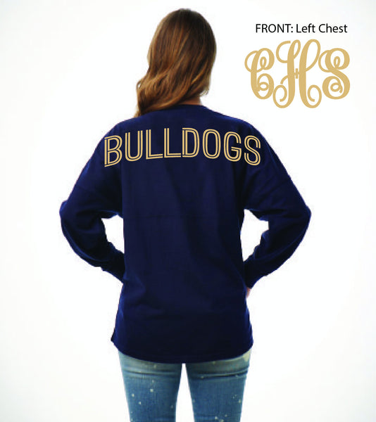 Ladies Billboard Bulldog Spirit Shirt V2