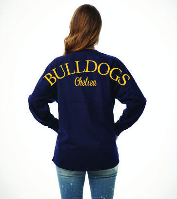 Ladies Billboard Bulldog Spirit Shirt