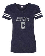 Ladies Baseball LAT Vintage T-shirt - Glitter