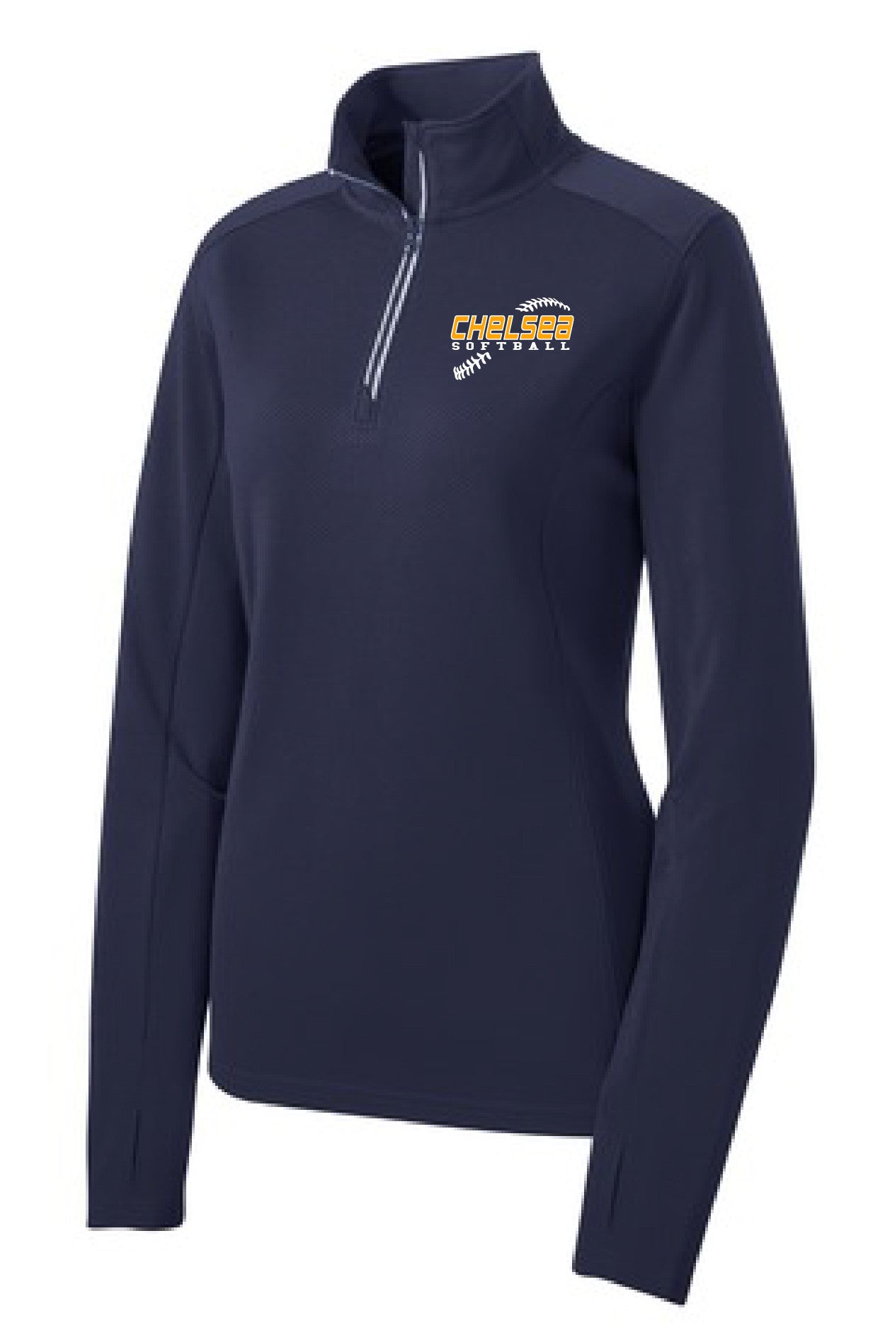 Ladies 1/4 Zip Chelsea Softball Pullover