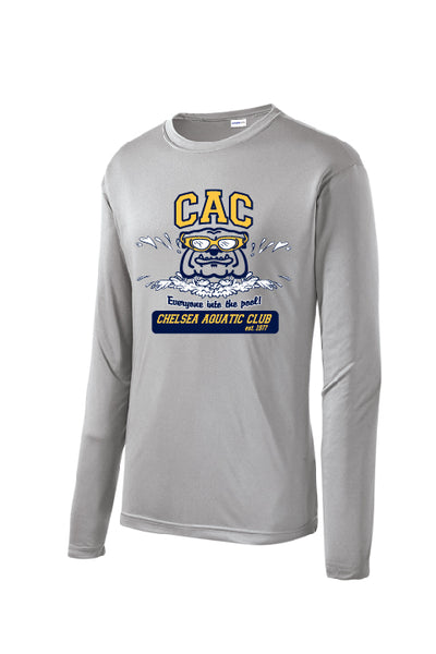 Youth CAC Winter Season Long Sleeve Performance Shirt - Silver