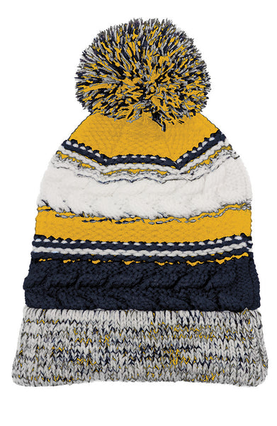 Grass Lake Warriors Pom Pom Beanie