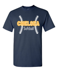 Ladies Softball Cotton T-Shirt - CB002