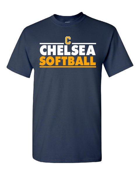 Adult Softball Cotton T-Shirt - CB004