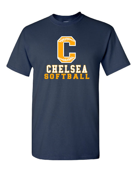 Adult Softball Cotton T-Shirt - CB006