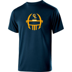 Adult Grass Lake Football Guage Performance SS Shirt - Navy