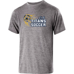 Adult Lady Titans Soccer Guage Performance SS Shirt - Athletic Heather
