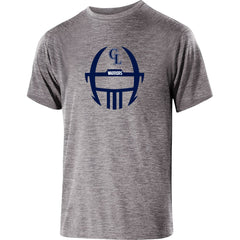 Adult Grass Lake Football Guage Performance SS Shirt - Athletic Heather