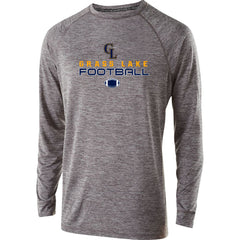 Youth Grass Lake Football Electrify Performance LS Shirt - Athletic Heather