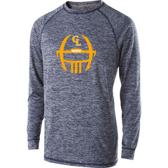 Adult Grass Lake Football Electrify Performance LS Shirt - Navy