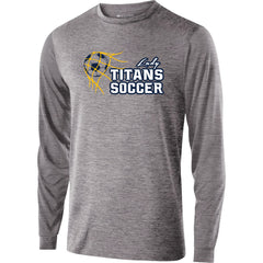 Adult Lady Titans Soccer Guage Performance LS Shirt - Athletic Heather