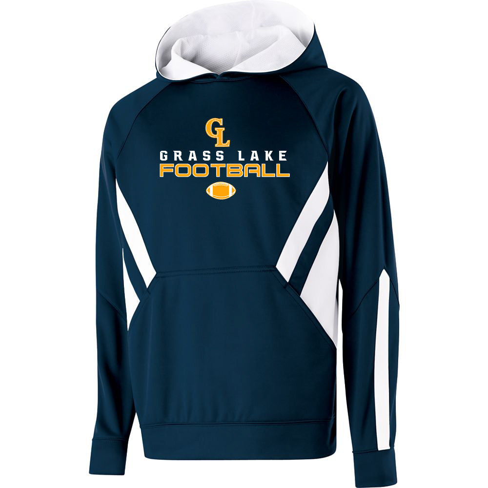 Adult Grass Lake Football Argon Hoodie - Navy/White