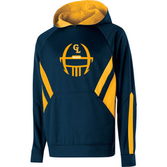 Adult Grass Lake Football Argon Hoodie - Navy/Gold