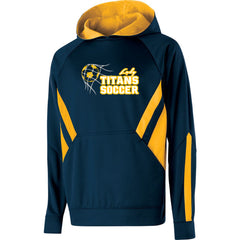 Adult Lady Titans Soccer Argon Hoodie - Navy/Gold