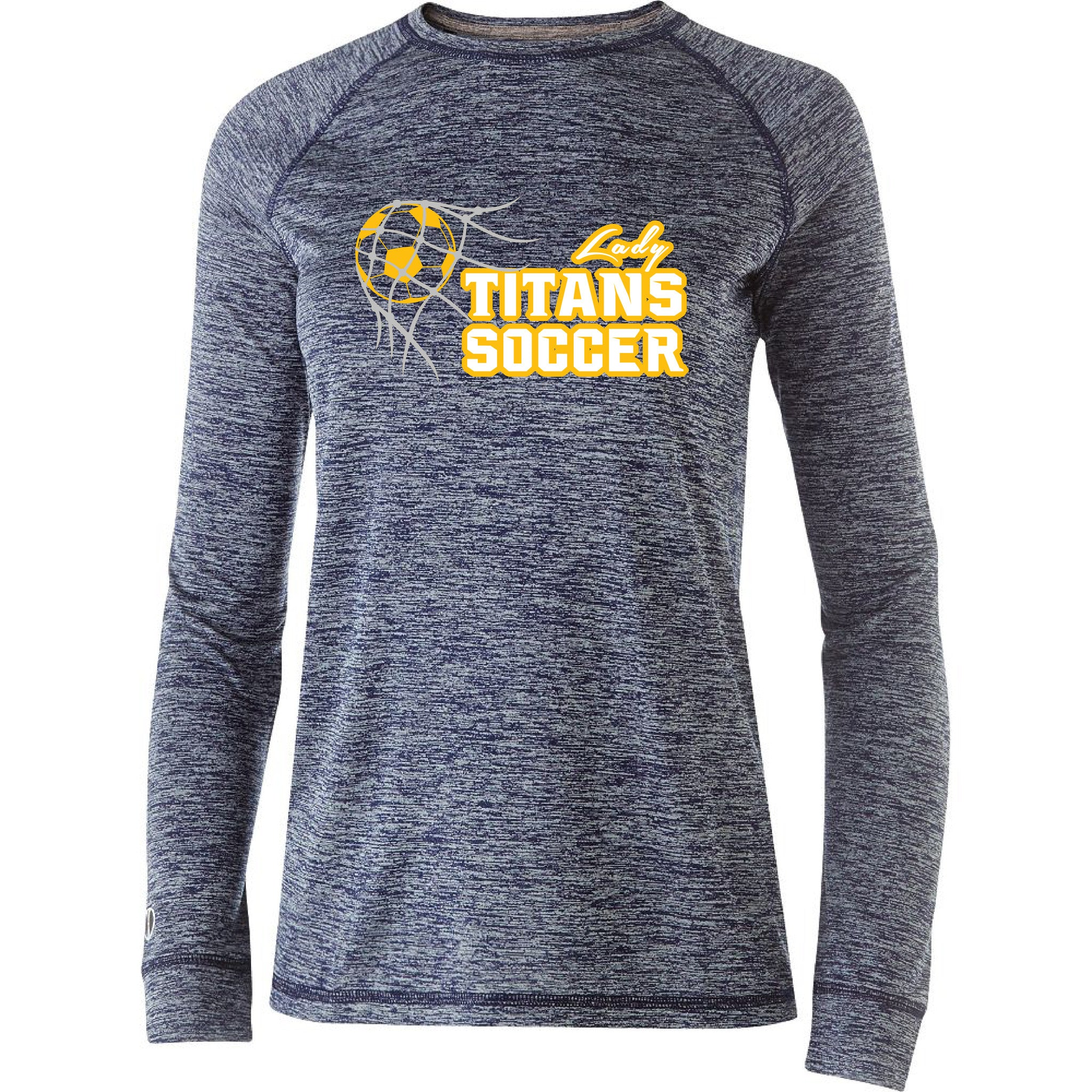 Ladies Lady Titans Soccer Electrify Performance LS Shirt - Navy