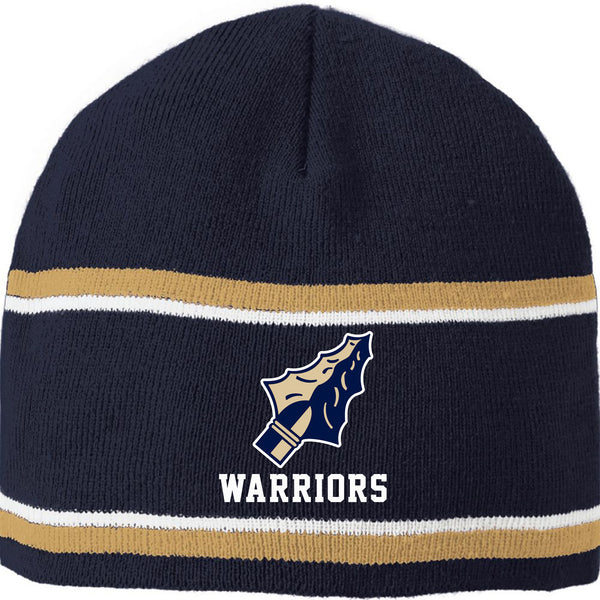 Grass Lake Warrior Engager Beanie - Navy/Vegas Gold