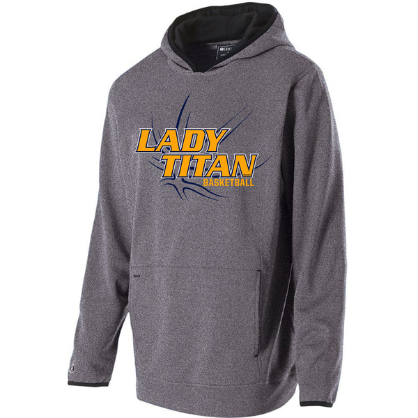 Adult Lady Titans Basketball Artillery Hoodie - Athletic Heather