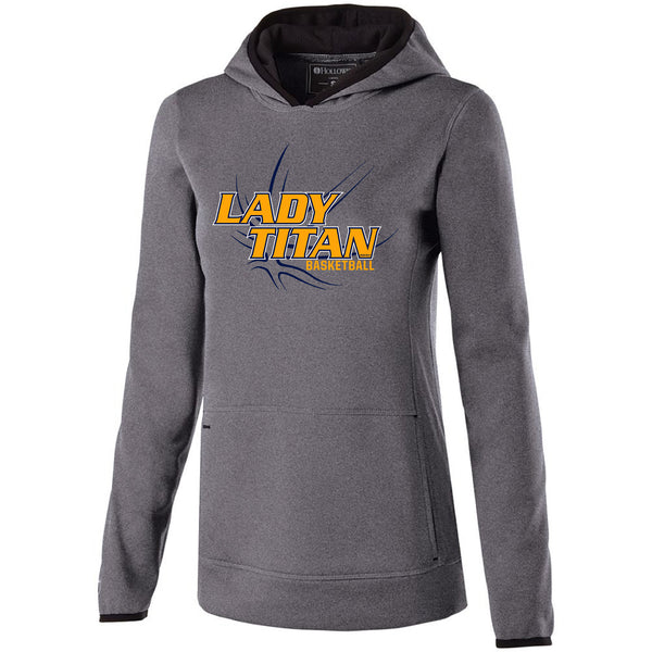 Ladies Lady Titans Basketball Artillery Hoodie - Athletic Heather