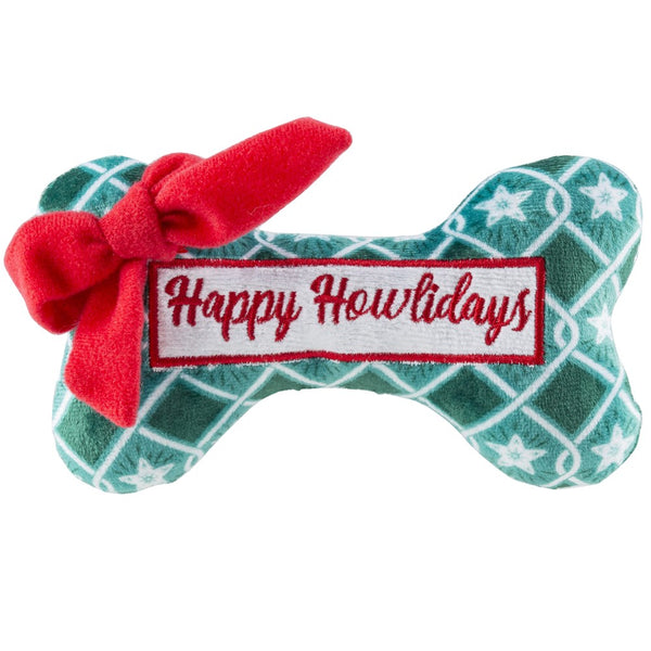 Green Stars Bone - Happy Howlidays