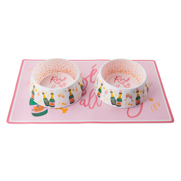 Rose All Day Bowls & Mat Set