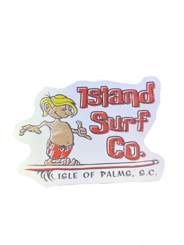 Island Surf Co Surfer Sticker