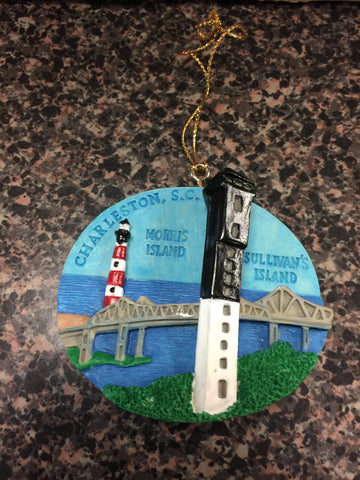 Charleston SC lighthouse ornament