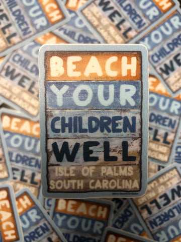 Mini Beach Sign Sticker