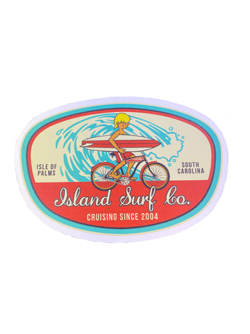 Oval Surf Sticker