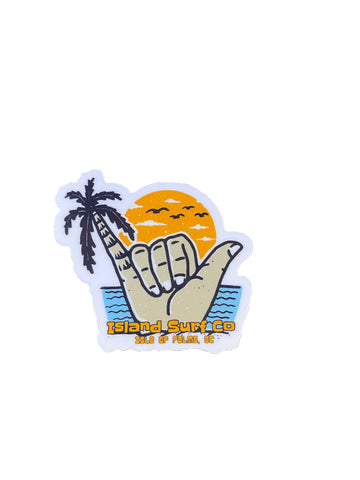 Mini Palm Tree Shaka Sticker