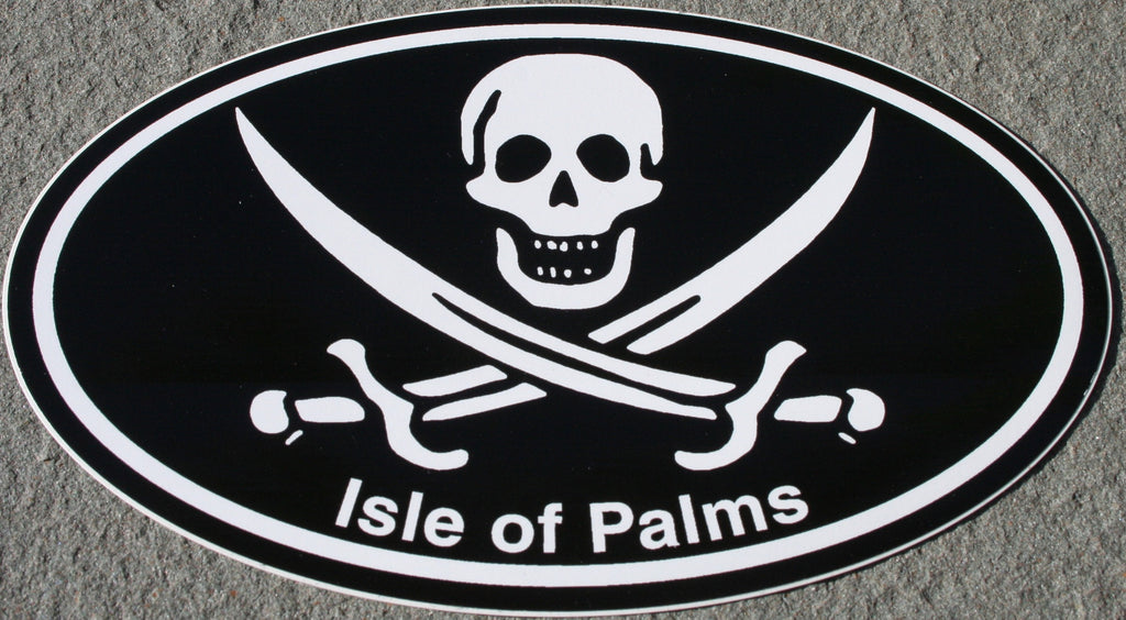Decal with skull and crossed swords