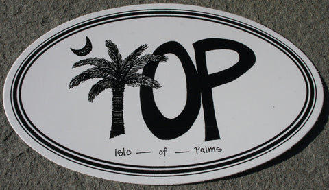Decal Drawn Palm and IOP  Oval