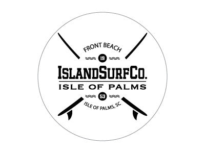 Decal Island Surf Co crossed boards