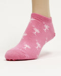Palmetto ladies pink footie sock