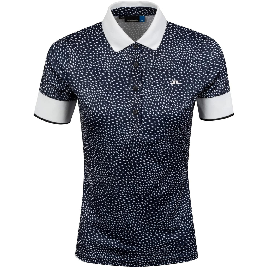 J. Lindeberg Lexie Short Sleeve Polo GWJT01640 White Dot