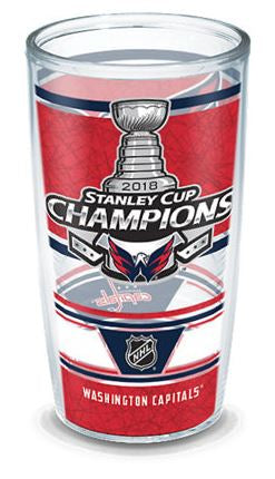 16oz Tervis Tumbler NHL® Washington Capitals® 2018 Stanley Cup® Champions