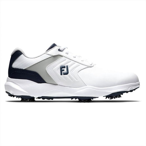 FootJoy eCOMFORT Golf Shoes - White/Navy 57704